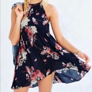 Urbane Outfitters high neck floral dress